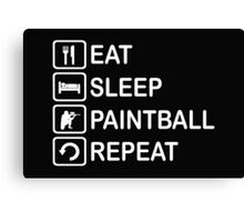 Eat Sleep Paintball Repeat Funny Shirt Canvas Print