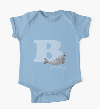 B is for Beluga One Piece - Short Sleeve