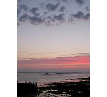 Sunset over Guernsey One Photographic Print