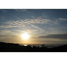 Sunset over Guernsey Three Photographic Print