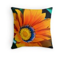 Orange Flower Two Throw Pillow