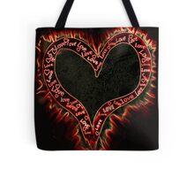 Burning heart Tote Bag