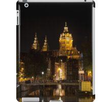 Amsterdam night: Church of Saint Nicholas iPad Case/Skin