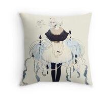 jellyfish dress Throw Pillow