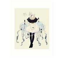 jellyfish dress Art Print