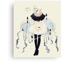 jellyfish dress Canvas Print