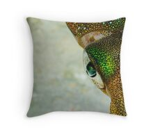 colour squid style Throw Pillow