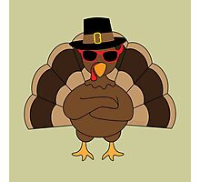 Cool Turkey with sunglasses Happy Thanksgiving Photographic Print