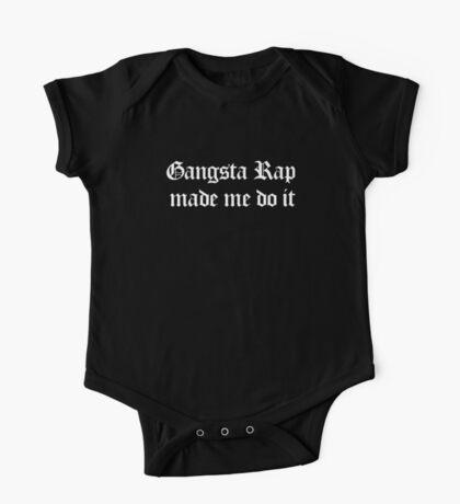 Gangsta Rap Made Me Do It One Piece - Short Sleeve