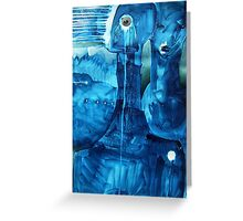 Blue Beings Greeting Card