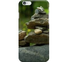 Stack of Rocks on the Trail iPhone Case/Skin