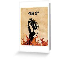 Fahrenheit 451 - Ray Bradbury Greeting Card