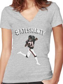#ATLSHAWTY - Deion Sanders T-shirt Women's Fitted V-Neck T-Shirt