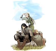 Legolas what do your elf eyes see Photographic Print