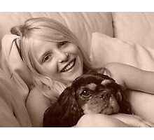 Me and my dog..... Photographic Print