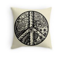 Circle of Peace Aussie Tangle - See Description Note for Colour Options Throw Pillow