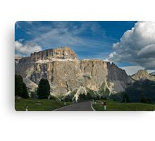Driving the Sella Canvas Print
