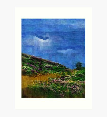 field of clover Painting Art Print