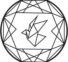 Geometric Paper Crane Design by NEODESIGN