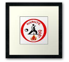 Karate Punch Framed Print