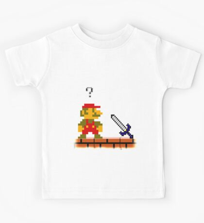 Mario and the...Master Sword? Kids Tee