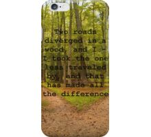 The Road Not Taken iPhone Case/Skin
