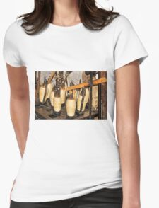 The history of weaving Womens Fitted T-Shirt