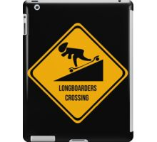 Longboarders crossing. Skate. iPad Case/Skin