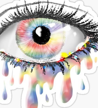 Rainbow Tears Sticker