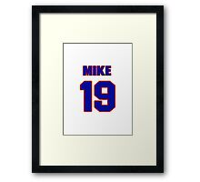 National Hockey player Mike Wong jersey 19 Framed Print