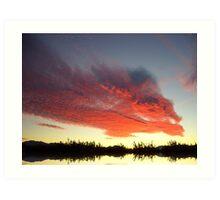 Alhaurin Sunset Art Print