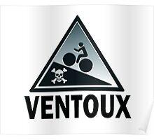 Mont Ventoux Gradient Shirt Skull Cross Bones Poster