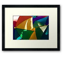 Primary Umbrellas Framed Print