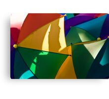 Primary Umbrellas Canvas Print