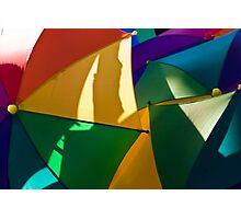 Primary Umbrellas Photographic Print