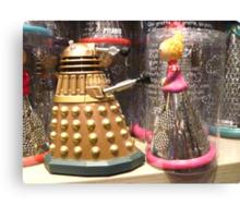 I Will Wait 4U- A Dalek in Love Canvas Print