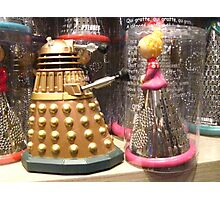 I Will Wait 4U- A Dalek in Love Photographic Print