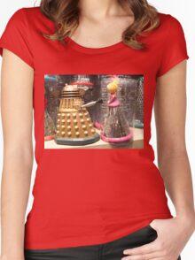 I Will Wait 4U- A Dalek in Love Women's Fitted Scoop T-Shirt