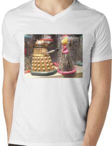 I Will Wait 4U- A Dalek in Love Mens V-Neck T-Shirt