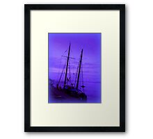 Evening Blue Mist in Topsham Framed Print