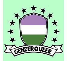 Genderqueer Shield Photographic Print