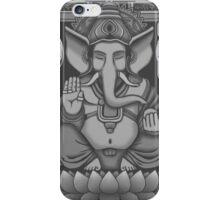 Ganesh White Halftone iPhone Case/Skin
