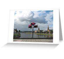Flowers on Ness Bridge Greeting Card