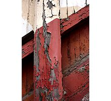 Red White Wood Photographic Print
