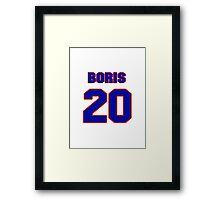 National Hockey player Boris Mironov jersey 20 Framed Print