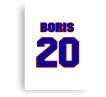 National Hockey player Boris Mironov jersey 20 Canvas Print