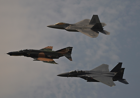 Air Force Heritage Flight by Andy Mueller