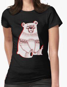 3d bear Womens Fitted T-Shirt