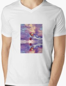 Float on Mens V-Neck T-Shirt