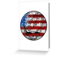 Grateful Dead Deadhead American Flag Greeting Card